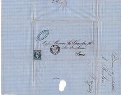 Napoléon III Empire Bordeaux Gironde Pour Paris 1862 Adolphe Boulan - 1853-1860 Napoléon III