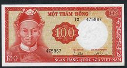 VIETNAM SOUTH  P19a   100  DONG  (1966)  WMK=Demon ' S Head   UNC. - Vietnam
