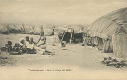 Soudan Mali  Tombouctou  Dans Le Village Des Bélés Pli Coin Sup Gauche - Mali