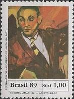 "BRAZIL - ""YELLOW MAN"" BY ANITA MALFATTI 1989 - MNH - Modernos"