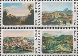 BRAZIL - COMPLETE SET LANDSCAPE PAINTINGS 1978 - MNH - Arte