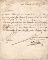 Lettre 1756 Avec Correspondance La Rochelle Charente-Maritime Pour Niort Deux-Sèvres Jean Chaigneau - Marcophilie (Lettres)