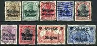 Belgium N1-9 Used German Occupation Set Of 1914-15 - WW I