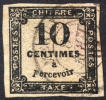 France J3 / Y2 / M2 XF 10c Used Imperf Postage Due Of 1859 - Postage Due