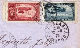 Lettre Maroc Casablanca Poste Aérienne Chella Pour Paris 1926 Camp Cazes Base Aérienne Aviation - Maroc (1891-1956)