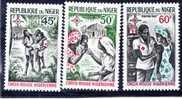 NIGER 3 T Xx N°YT 202 à 204 - 1967 - Série Croix Rouge Nigérienne - Niger (1960-...)