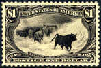 US #292 SUPERB Mint Never Hinged $1 Trans-Mississippi From 1898 - Neufs