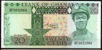 GHANA : Banconota  20 Cedis - 1982 - P21c - FDS - Ghana