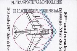 Mongolfière Ballon Passage Du Mur Du Son Avion Aviation Salon De Provence Bouches Du Rhône Kiwanis - Mongolfiere