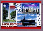 3 VIEWS OF HOUSTON AREA ATTRACTIONS BATTLEGROUND MONUMENTAT  SAN JACINTO And BATTELSHIP TEXAS USA POSTCARD - Houston