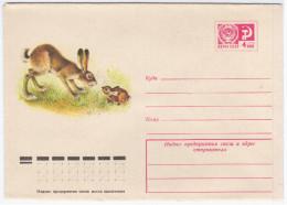 Russia USSR 1976 Fauna Hare Rabbit - 1923-1991 USSR