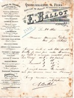 Lettre D´affaires - Quincaillerie E. BALLOT à AILLY Sur NOYES  -  80 SOMME-1917 - Vieux Papiers