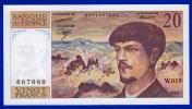 BILLET FRANCE 20 FRANCS DEBUSSY NEUF AVEC TRACE DE COMPTAGE W.019 N° 667080 ANNEE 1987 VOIR 2 SCANS - 1962-1997 ''Francs''