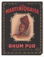 ETIQUETTE ANCIENNE DE RHUM - RHUM PUR LA MARTINIQUAISE - PARIS CHARENTON - 14.4 X 11 Cm - Rhum