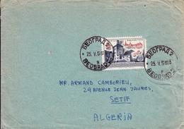 Beograd Serbie Yougoslavie 1956 Pour Sétif Algérie - Yugoslavia