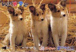 Carte Prépayée Japon / Série KIDS 2 - ANIMAL - Chien COLLEY : 39/51 - COLLIE DOG Japan Prepaid Metro Card - HUND Karte - Japon