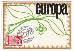 Carte Maximum 1965 Conseil De L'Europe Strasbourg Bas-Rhin Europa - Europa-CEPT
