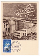Carte Maximum 1965 20e Anniversaire Du Commissariat à L'énergie Atomique Atome Nucléaire - Physique