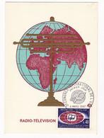 Carte Maximum 1967 Radio Télévision Congrès International De UER - Télécom