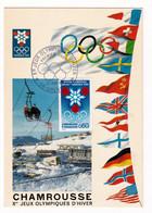 Carte Maximum 1967 Jeux Olympiques D'Hiver Grenoble Chamrousse Isère - Winter 1968: Grenoble