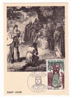 Carte Maximum 1967 Saint-Louis Louis IX Justice Chêne - History