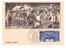 Carte Maximum 1967 Hugues Capet Senlis Oise - Geschiedenis