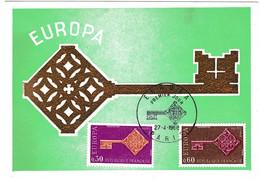 Carte Maximum 1968 Europa Europe Paris - Europa-CEPT