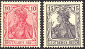 British Propaganda Stamps Of WWI Michel #4-5 Mint Never Hinged - Germany