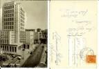 Genova: Piazza Dante. Cartolina B/n Viaggiata 1954 (animata, Auto, Tram, Lavori In Corso) - Genova (Genoa)