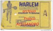 Catania-Stadio Cibali-1968-Ticket (billete, Biglietto, Kaartze) Basket Harlem Globetrotters-Pallacanestro- - Biglietti D'ingresso