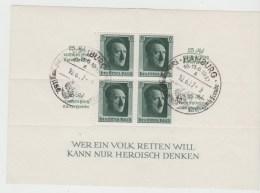 DSP134b/  Block 9, Kulturspendeblock 1937, Hamburg-Stempel