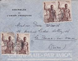 Lettre Assemblée De L'Union Française AEF Pour Le Perreux Sur Marne - A.E.F. (1936-1958)
