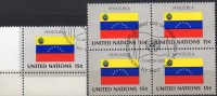 Flagge Venezuela 1980 UNO New York 358+4-Block Aus Kleinbogen O 2€ Bloque Hojita Bloc M/s UN NY Flag Sheetlet Bf America - Stamps