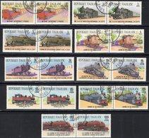 Eisenbahn 1984 Serie Loks Ägypten Algerien Kongo Libyen Madeira UK  Set Togo 1807/15 O 15€ Bekannte Eisenbahnen Der Welt - Togo (1960-...)