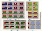UNO Flaggen VII 1986 New York 499/14 In Kleinbogen ** 44€ LAOS GAMBIA JORDAN ZAMBIA TOGO BOTSWANA Bf Flag Sheet Of UN NY - Postzegels