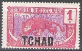 Tchad 1922 Michel 1 Neuf ** Cote (2002) 0.70 Euro Léopard - Unused Stamps