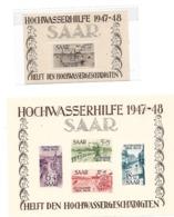 DSP328/  SAAR -  Blöcke 1 + 2, Hochwasser 1948 * (Superqualität, Erstfalz) Abart - Blocs-feuillets