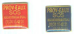 LOT DE 2 PIN´S - SOS PROV´EAUX - 077 - Badges