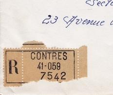 Recommandé Contres Loir Et Cher Poste Aérienne Mystère 20 Chapelle Roncham Haute Saône 1968 - Frankrijk