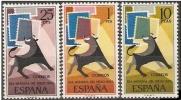 ESPAÑA 1965 - DIA DEL SELLO -  EDIFIL 1667-1669 - Yvert 1322-1324 - Timbres Sur Timbres