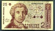 Billet Croatie 25 Dinara 1991 Ttb+ - Croatia