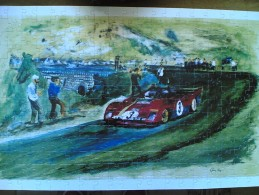 MAXI PUZZLE NUOVO IN BOX 256 PEZZI F.TO 30X45 TARGA FLORIO 1972 FERRARI 312 P ARTURO MERZARIO - Puzzles