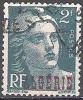 Algerie 1945 Michel 235 O Cote (2005) 0.30 Euro Marianne De Gandon Cachet Rond - Used Stamps