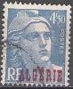 Algerie 1945 Michel 237 O Cote (2005) 0.30 Euro Marianne De Gandon Cachet Rond - Used Stamps