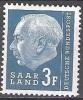 Sarre 1957 Michel 410 Neuf ** Cote (2011) 0.30 Euro Theodor Heuss - Neufs