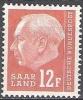 Sarre 1957 Michel 414 Neuf ** Cote (2011) 0.30 Euro Theodor Heuss - 1957-59 Fédération