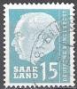 Sarre 1957 Michel 388 O Cote (2011) 0.30 Euro Theodor Heuss Cachet Rond - 1957-59 Fédération