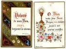 2 Images Religieuses, Blanchard, Orléans, 1882-1884, Bordure Dorée - Images Religieuses