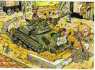 Carte Postale Humour Militaire  Char Ferme  Bidasse Trés Beau Plan  Par Mazel - Illustrateurs & Photographes