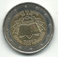 2 EUROS 2007 50 ANS DU TRAITE DE ROME FRANCE ETAT COURANT - France